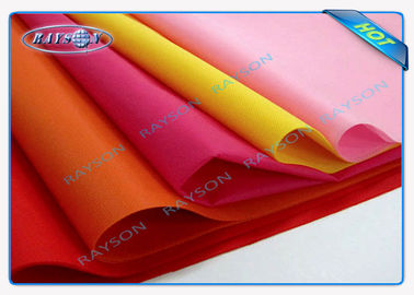 Blue / Pink / Yellow PP Non Woven Tablecloth , Spunbond Nonwoven Fabric Flower Packing