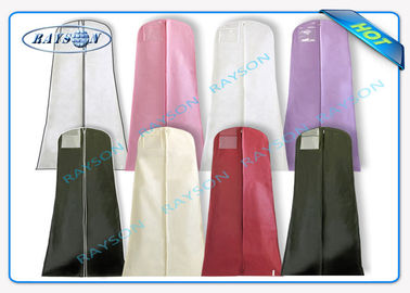 Durable 70gsm - 150gsm Printed Polypropylene Non Woven Suit Cover for Suit Dustproof Non Woven Fabric Bags