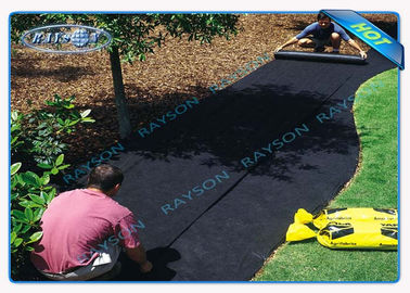 40gsm Black Non Woven Landscape Fabric for Garden Cover , 1.5 % UV - Resistance