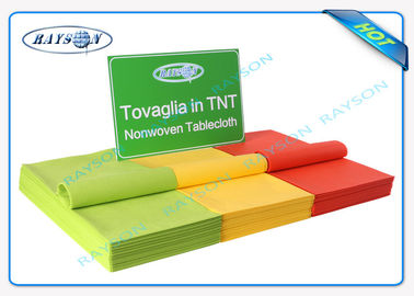 Printed TNT Non Woven Table Cover Disposable Small Roll Spunbond PP Non Woven Fabric Tablecloths