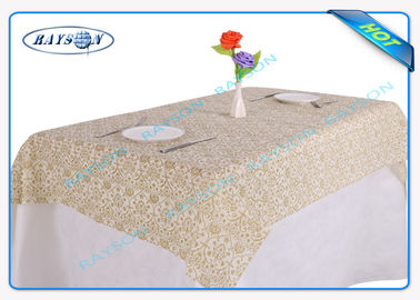 Disposable Non Woven Tablecloth / Restaurant Pantone Matched Table Cloth