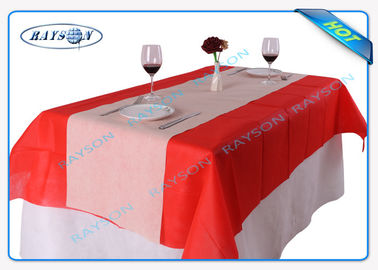 Food Grade 60 Gram Width 1.2cm tnt Non Woven Tablecloth With SGS