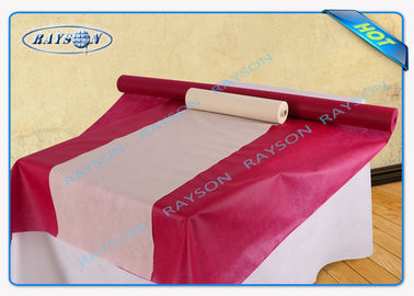 Green Red Yellow Non Woven Tablecloth , Vinyl Table Covers Napkins