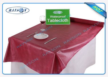 40gsm - 60gsm Disposable Polypropylene Non Woven Tablecloth with Different Printing Pattern