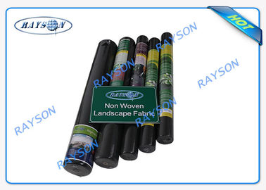Biodegradable Heavy Duty Weed Control Fabric in Black Color 1.5OZ 40gsm to 100gsm