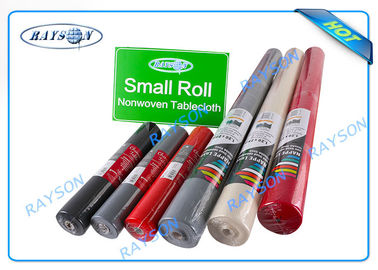 Biodegradable Disposable PP Non Woven Textiles / Printed Polyester Tablecloths In Roll