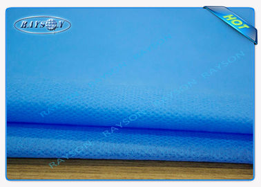 Blue SMS Non Woven Medical Fabric For Surgical Gowns / Operating Towel