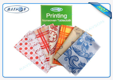 30-80 Gram PP Spunbond Non Woven Tablecloth / Table Cover Panton For Hotel / Restaurant