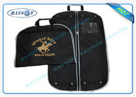China Black ECO Friendly Non Woven Suit Cover With Zipper And Handle Garment Bag company