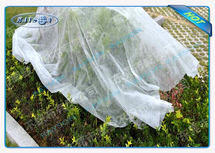 White Biodegradable Non Woven Landscape Fabric Oeko Tex Certificate