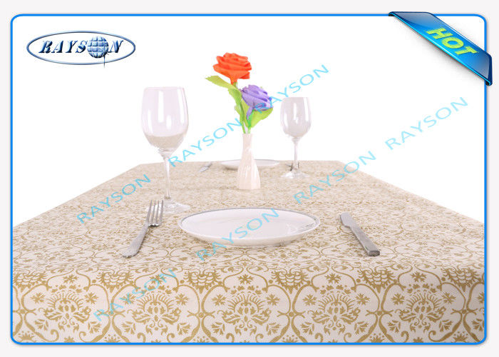 Printed tnt Environmental Spunbond Non Woven Tablecloths For Hotel