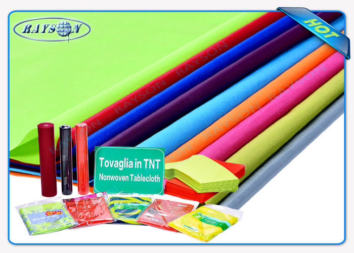 Multi / Panton Colors Spunbond Non Woven Tablecloth Tnt Fabric With OEKOTEX Certificate