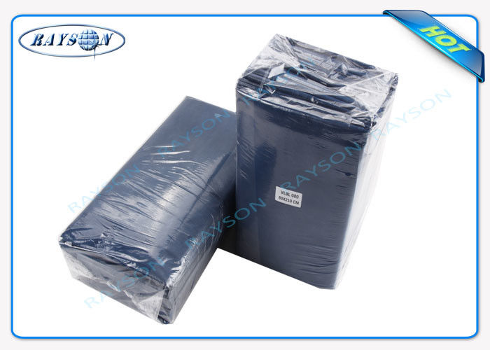 Water Proof PE Coated Disposable Bed Sheet Size 80CM x 210CM For Massage