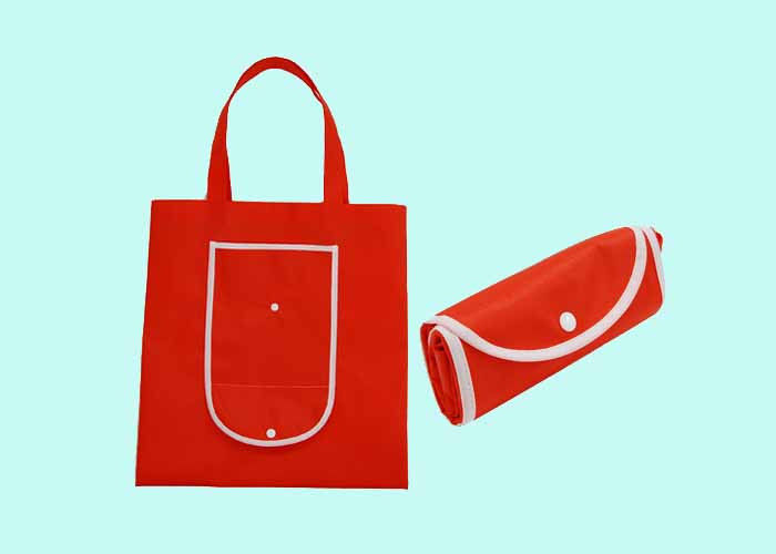 Foldable and Portable PP Non Woven Bag / Reusable Nonwoven Fabric Shopping Bags