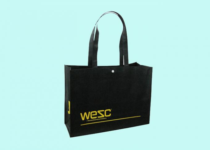 Printed Foldable Recyclable PP Non Woven Bag / Shopping Bags with Handle
