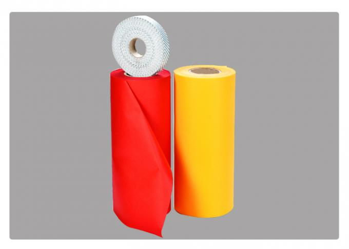Red Green PP Spunbond Non Woven Fabric For / Shopping Bag / Packing Pocket Spring