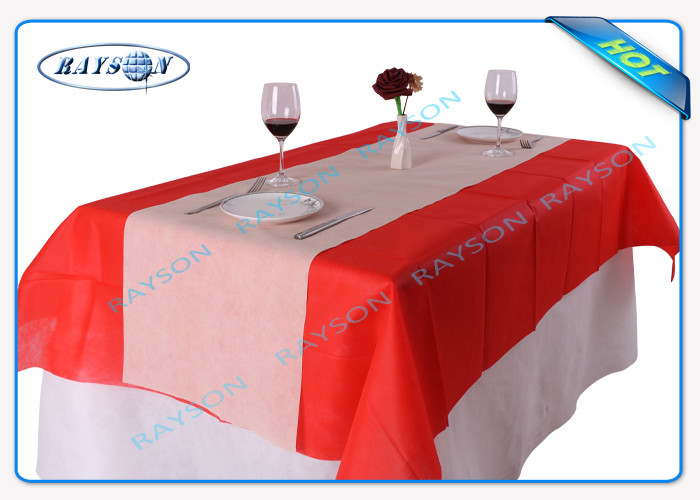 Size 120CMX100CM Square Disposable Non Woven Tablecloth Eco-friendly and Recyclable