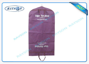 Purple PP Non Woven Suit Cover 100% Virgin Polypropylene Standard Size