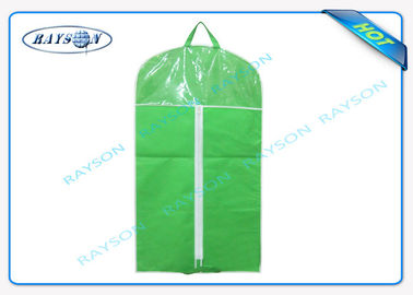 Customized Mens Non Woven Suit Cover With Good Zipper And PVC Window