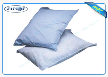 Printed Logo Airline Non woven Pillow Cover / Headrest Cover OEM