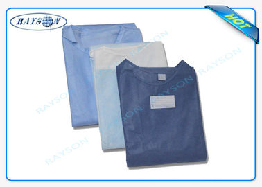 100% PP , SMS Non Woven Medical Fabric Sterile Disposable Surgical Gown Sauna Dress