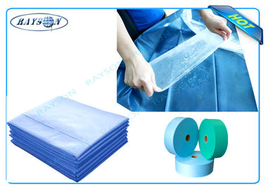 Blue or Green Waterproof PP Non Woven Medical Fabric for Surgical Mask or Disposable Bedsheet