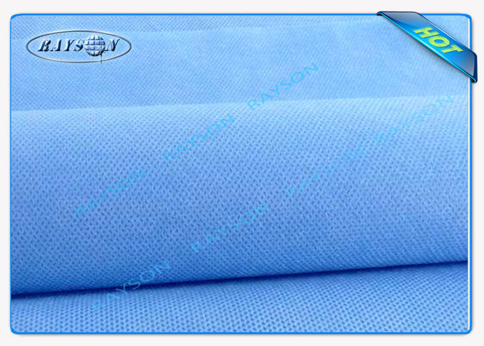 Eco friendly Blue PP Spunbond Non Woven Fabric for Medical Mask or Surgical Gown
